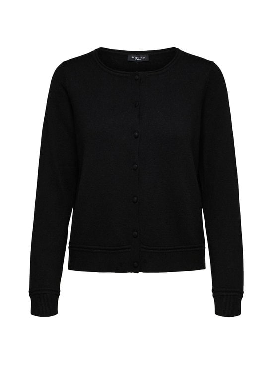Selected - SlfNaya Cashmere LS Knit Cardi -neuletakki - C-N10 BLACK | Stockmann - photo 1