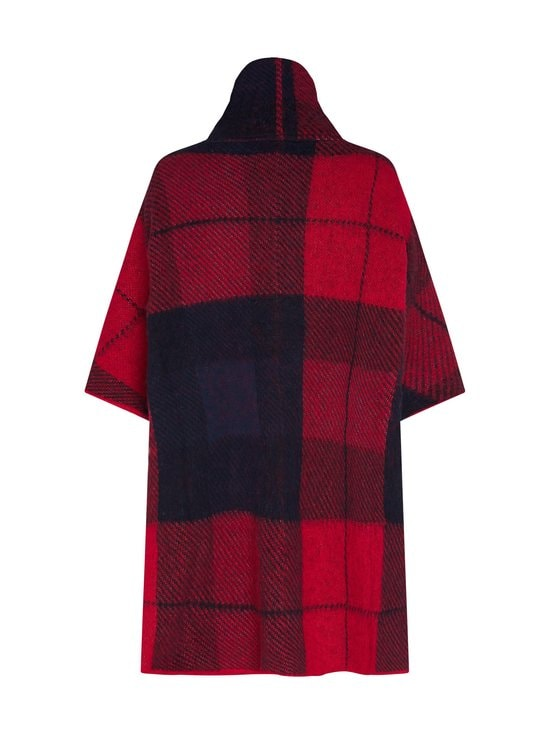 Tommy Hilfiger - Tommy Icons Cape Jumper -neule - 09N ICON CHECK RED/BLUE | Stockmann - photo 2