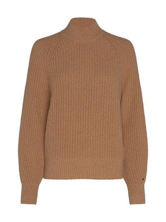 Rib Mock-Neck Sweater -villasekoiteneule - Tommy Hilfiger