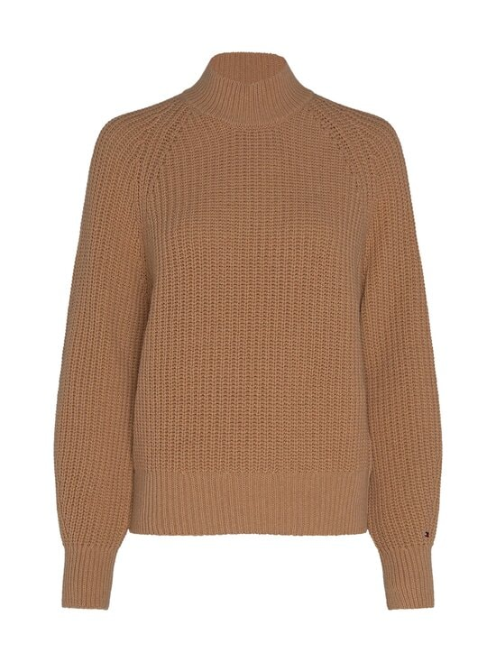 Tommy Hilfiger - Rib Mock-Neck Sweater -villasekoiteneule - GV7 TIMELESS CAMEL | Stockmann - photo 1