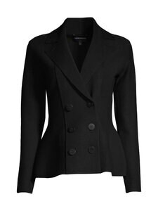 Emporio Armani - Double-Breasted Knitted Jacket -bleiseri - 0999 BLACK | Stockmann