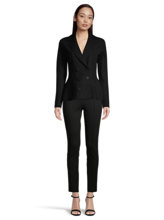Emporio Armani - Double-Breasted Knitted Jacket -bleiseri - 0999 BLACK   Stockmann - photo 2