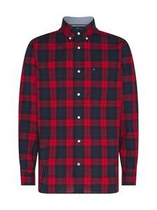Tommy Hilfiger - Flex Black Watch Check Shirt -kauluspaita - 0QJ PRIMARY RED / PITCH BLUE / BLACK   Stockmann