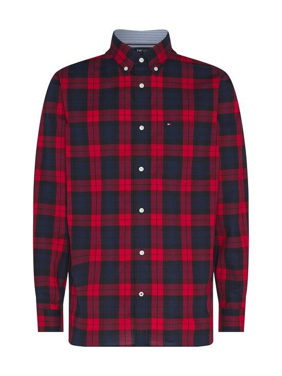 Tommy Hilfiger - Flex Black Watch Check Shirt -kauluspaita - 0QJ PRIMARY RED / PITCH BLUE / BLACK | Stockmann - photo 1