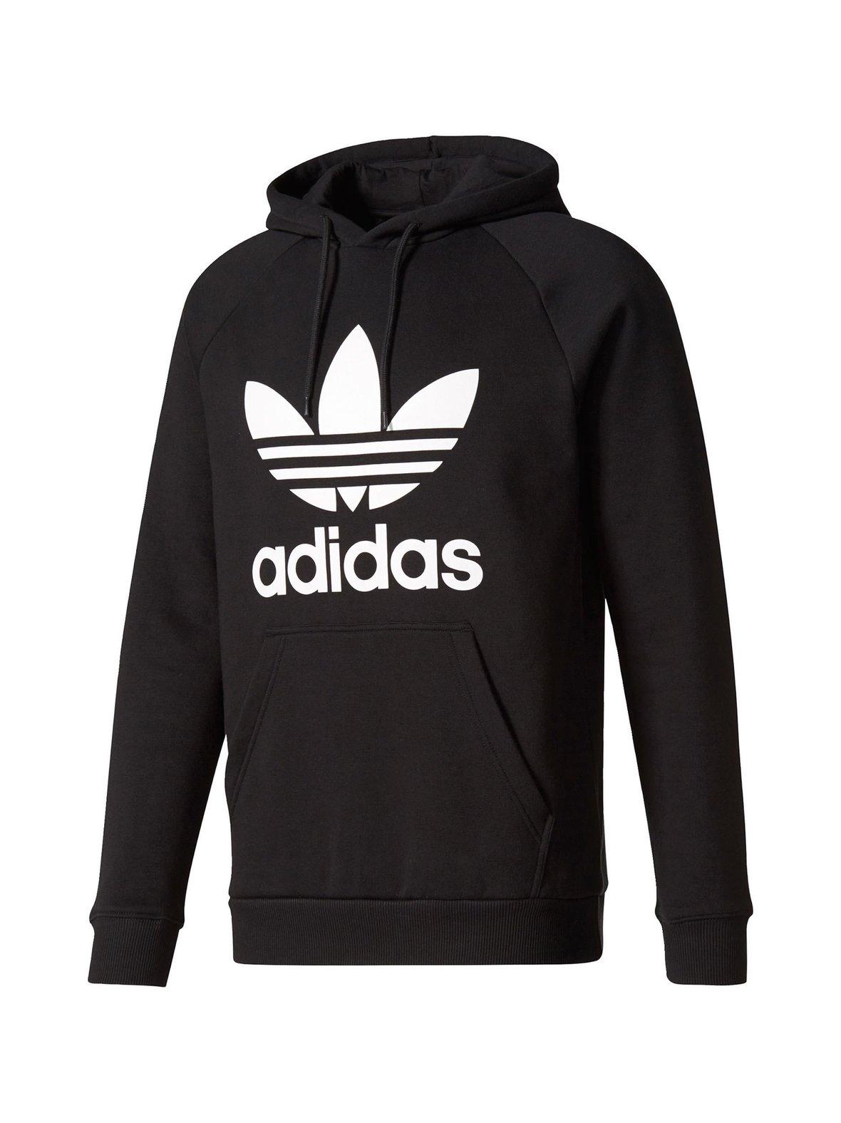 newest 9e686 e29c4 Black (musta) Adidas Originals Trefoil-huppari BR4852   XL   Urheilu ...