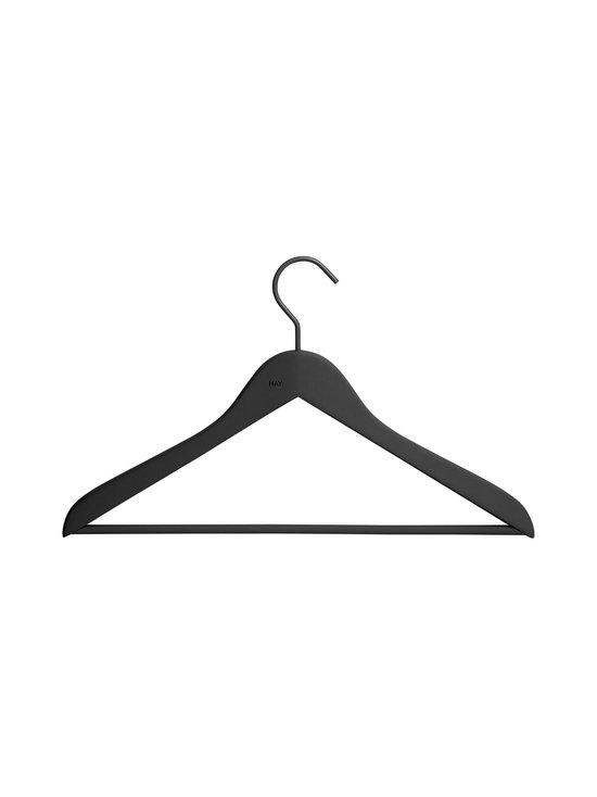 HAY - Soft Coat Hanger Slim -vaateripustin 4 kpl - MUSTA | Stockmann - photo 1