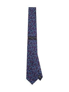 Tommy Hilfiger Tailored - Silk Floral Tie -silkkisolmio - 0ZW NAVY/ RED/ LIGHT BLUE | Stockmann