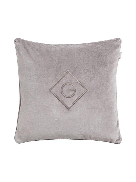 Gant Home - Velvet G -tyynynpäällinen 50 x 50 cm - 161 ELEPHANT GREY | Stockmann - photo 1