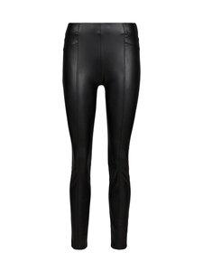 Comma - Trousers Fake Leather -housut - 9999 BLACK | Stockmann