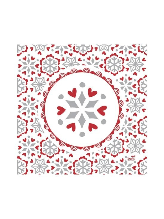 Duni - Scandi-servetti 33 x 33 cm, 20 kpl - RED-WHITE   Stockmann - photo 1