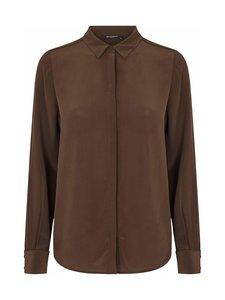 BRUUNS BAZAAR - Lillie Corinne Silk Shirt -silkkipusero - COFFEE BROWN | Stockmann