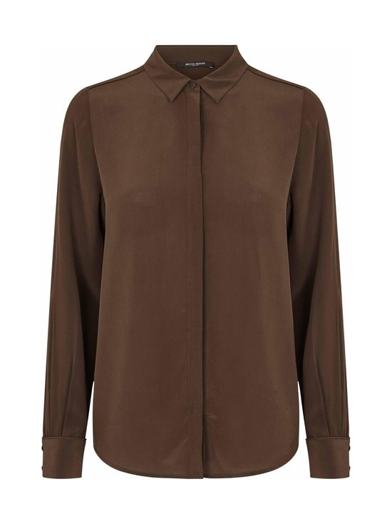 BRUUNS BAZAAR - Lillie Corinne Silk Shirt -silkkipusero - COFFEE BROWN | Stockmann - photo 1