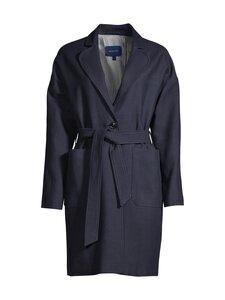GANT - Fluid Linen Blend Belted Coat -takki - 433 EVENING BLUE | Stockmann