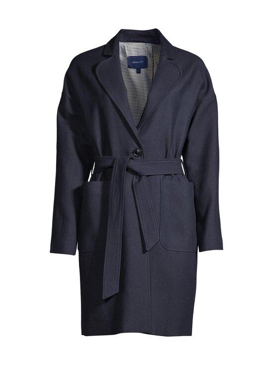 GANT - Fluid Linen Blend Belted Coat -takki - 433 EVENING BLUE | Stockmann - photo 1
