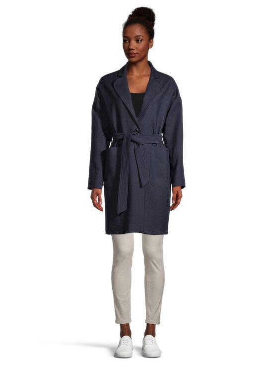 GANT - Fluid Linen Blend Belted Coat -takki - 433 EVENING BLUE | Stockmann - photo 2