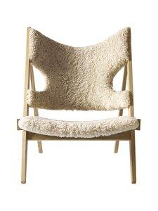 Menu - Knitting Lounge Chair -tuoli - NATURAL OAK, WHITE | Stockmann