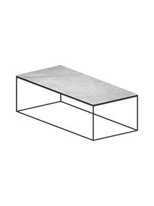 ZEUS - Slim Marble -pöytä - MUSTA/VALKOINEN | Stockmann