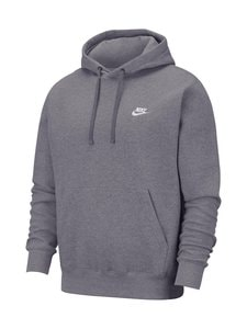Nike - Sportswear Club Fleece -huppari - 071 CHARCOAL HEATHR/ANTHRACITE/WHITE | Stockmann