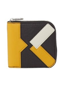 Kenzo - Kube Small Zipped -nahkalompakko - GOLDEN YELLOW | Stockmann