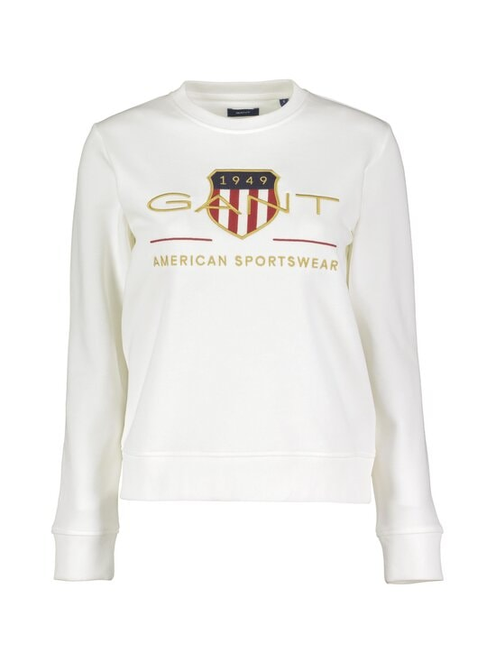 GANT - Archive Shield C-Neck -collegepaita - 113 EGGSHELL | Stockmann - photo 1
