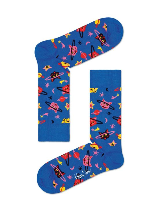 Happy Socks - Space Cat -sukat - 6300-BLUE | Stockmann - photo 1