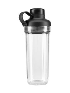 KitchenAid - Sekoituspullo K400-tehosekoittimeen 500 ml - TRANSPARENT/BLACK | Stockmann