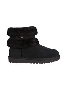 UGG - Fluff Mini Belted Boot -nilkkurit - BLACK | Stockmann