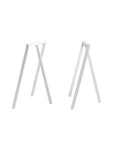 HAY - Loop Stand -pukkijalat 64,5 x 37 x 72 cm - VALKOINEN   Stockmann