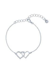 Ted Baker London - Larsae Crystal Linked Hearts Bracelet -rannekoru - SILVER, CRYSTAL | Stockmann