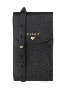 Ted Baker London - Siiindy Scallop Detail Xbody Phone Pouch -nahkalaukku - 00 BLACK | Stockmann