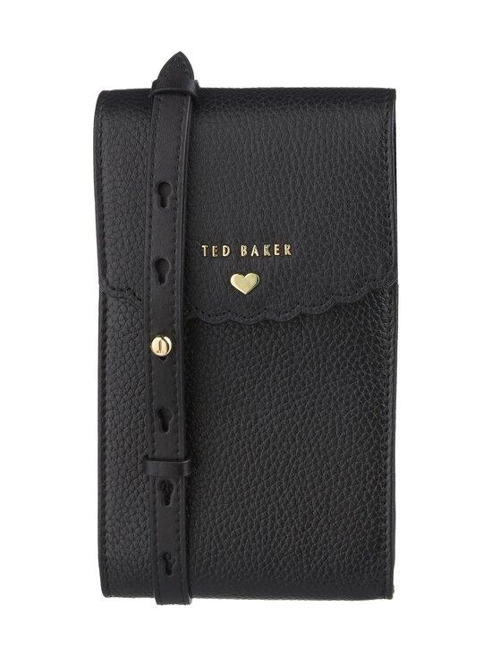 Ted Baker London - Siiindy Scallop Detail Xbody Phone Pouch -nahkalaukku - 00 BLACK | Stockmann - photo 1