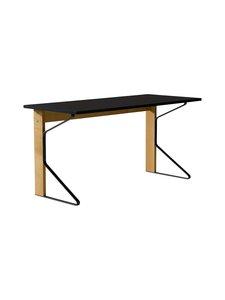 Artek - REB005 Kaari -työpöytä, HPL - BLACK GLOSSY/NATURAL OAK (MUSTA/TAMMI) | Stockmann