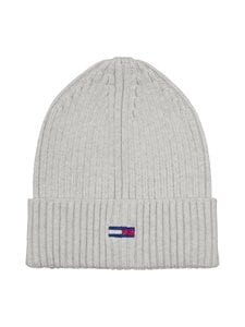 Tommy Jeans - Tjw Basic Flag Rib Beanie -pipo - PPP PALE GREY HEATHER | Stockmann