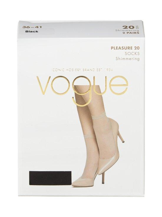 Vogue - Pleasure 20 den -sukat 2-pack - BLACK | Stockmann - photo 1