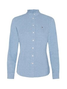 Tommy Hilfiger - Ruffled Collar Regular Fit -paitapusero - DY5 DAYBREAK BLUE | Stockmann
