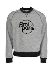 Ami - Ami Paris Sweatshirt -collegepaita - GRIS/NOIR/057 | Stockmann