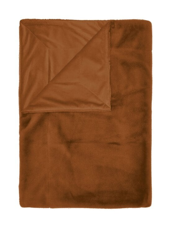 Essenza - Furry Plaid -torkkupeitto 150 x 200 cm - LEATHER BROWN | Stockmann - photo 1
