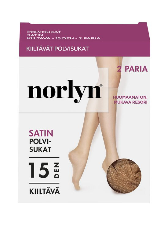 Norlyn - Satin 15 den -polvisukat 2-pack - POWDER | Stockmann - photo 1