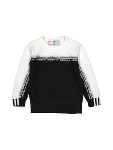 adidas Originals - Crew Logo Tape -collegepaita - BLACK/WHIT | Stockmann