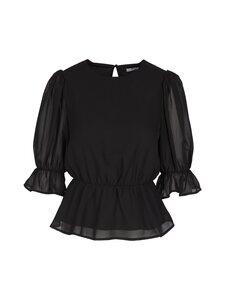 NA-KD - Puff Sleeve Chiffon Blouse -pusero - BLACK | Stockmann