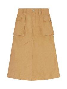 Ganni - Cotton Canvas Skirt -hame - TIGER'S EYE | Stockmann