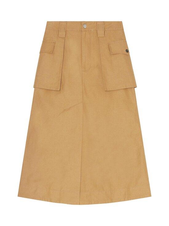 Ganni - Cotton Canvas Skirt -hame - TIGER'S EYE | Stockmann - photo 1