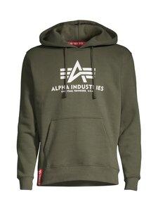Alpha Industries - Basic Hoody -huppari - 142 DARK OLIVE | Stockmann