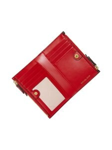 Michael Michael Kors - Jet Set Charm Small Double Zip Card Case -korttikotelo - 268 BRN/BRT RED | Stockmann