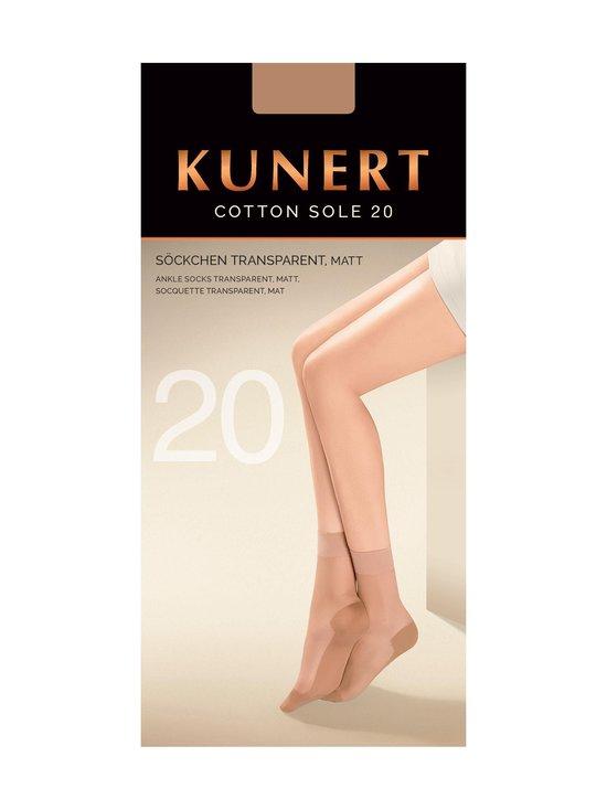 Kunert - Cotton Sole 20 den -nilkkasukat - CASHMERE   Stockmann - photo 1
