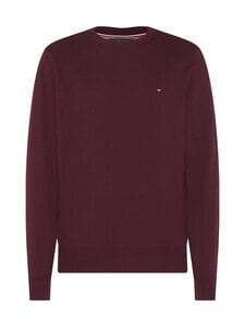 Tommy Hilfiger - Pima Cotton Cashmere Crew Neck -neule - XT2 DEEP BURGUNDY HEATHER | Stockmann