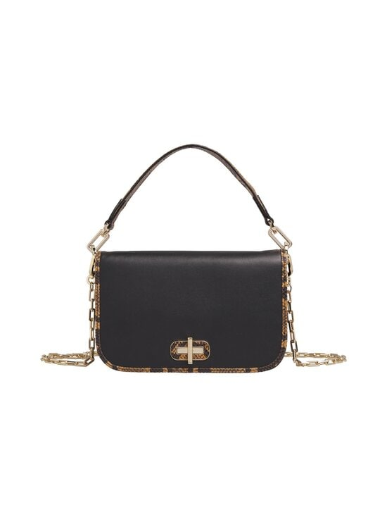 Tommy Hilfiger - Leather Statement Crossover -nahkalaukku - 0GJ BLACK | Stockmann - photo 1