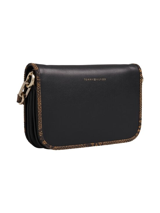 Tommy Hilfiger - Leather Statement Crossover -nahkalaukku - 0GJ BLACK | Stockmann - photo 2