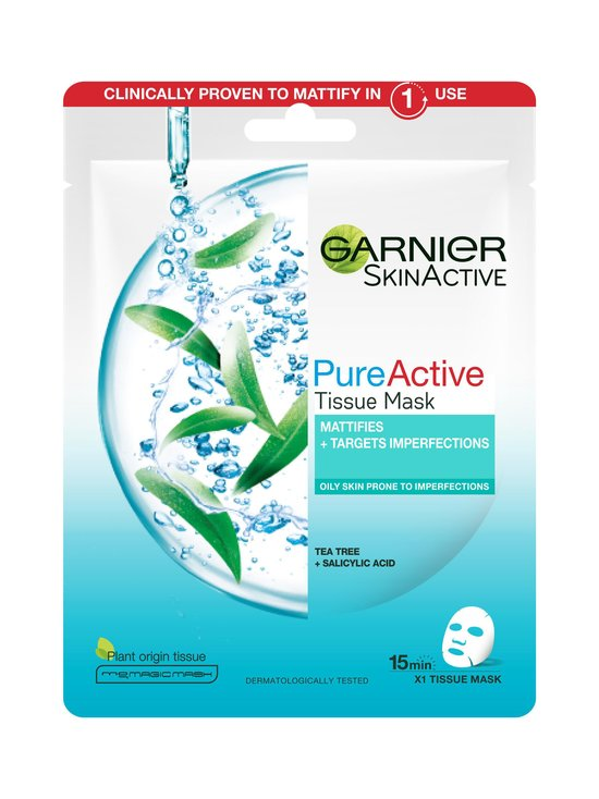 Garnier - Skin Active Tissue Mask -kangasnaamio 28 g - NOCOL | Stockmann - photo 1