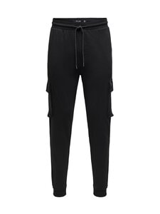 Only & Sons - OnsKian Kendrick Chino Sweat Pants -housut - BLACK | Stockmann